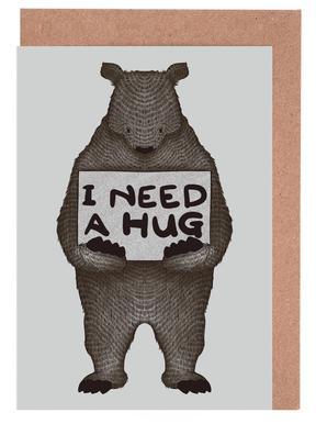 I Need a Hug -Grußkarten-Set