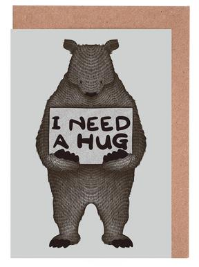 I Need a Hug Set de cartes de vœux