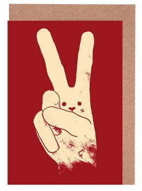 Love, Peace and Carrots Set de cartes de vœux