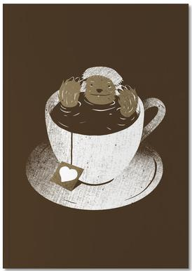 Monday Bath Sloth Coffee Notebook