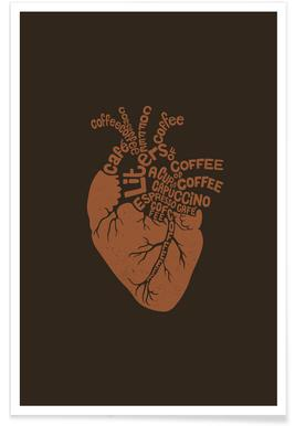 Coffee Lover Heart Poster