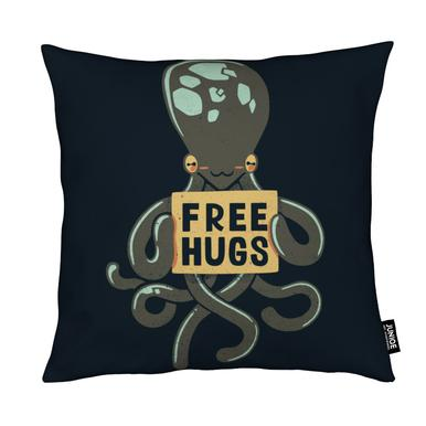 Free Hugs Octopus Kudde
