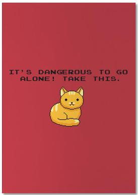 Its Dangerous To Go Alone Take This Cat Notepad