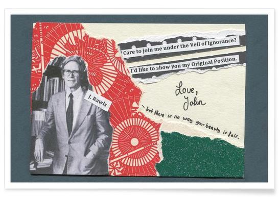 John Rawls Poster