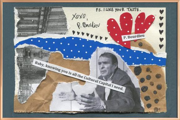 Pierre Bourdieu affiche sous cadre en aluminium