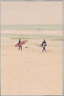 Two Surfers affiche sous cadre en aluminium