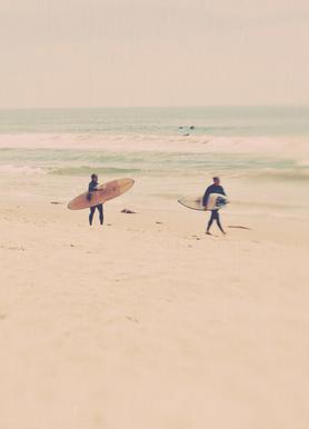 Two Surfers toile