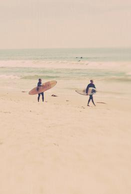 Two Surfers Impression sur alu-Dibond