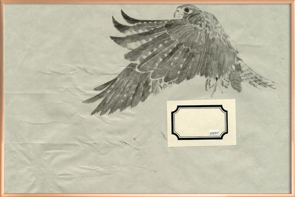 ˈpapa] I as Poster in Aluminium Frame by Julia Danckwerth | JUNIQE