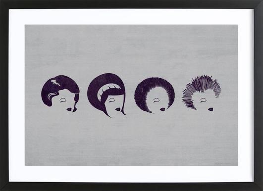 Punky Funky Framed Print