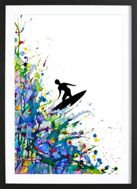 A Pollock's Point Break Poster im Holzrahmen
