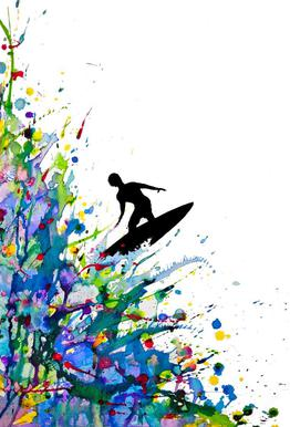 A Pollock's Point Break -Acrylglasbild