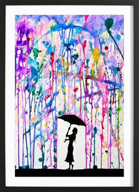Deluge Poster im Holzrahmen