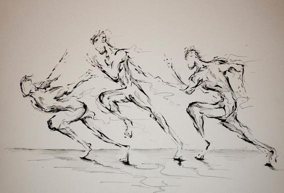 Three Blind Mice Acrylglas print