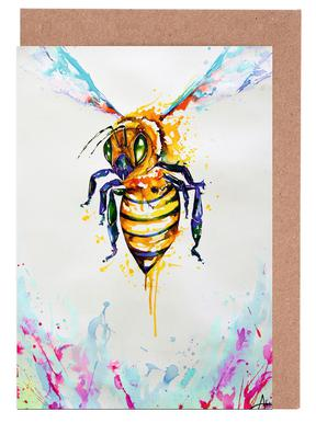 Bees greeting cards juniqe colmena marc allante greeting card set m4hsunfo