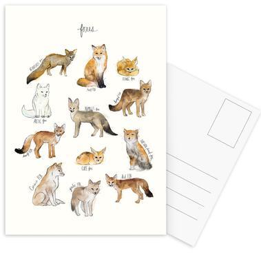 Foxes Postcard Set