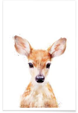 Illustration de petit chevreuil affiche