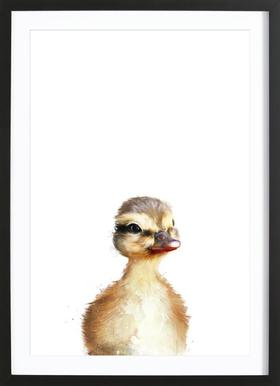 Little Duck affiche sous cadre en bois