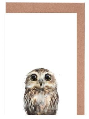 Little Owl Greeting Card Set