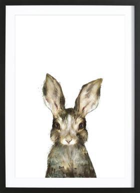 Little Rabbit affiche sous cadre en bois
