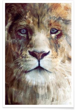 Leeuwenkop illustratie poster