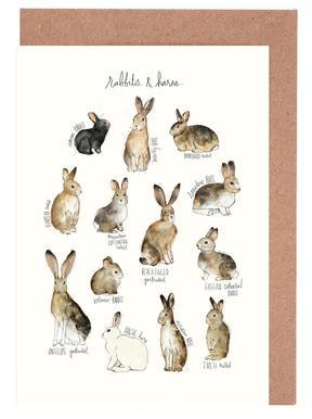 Rabbits and Hares Set de cartes de vœux