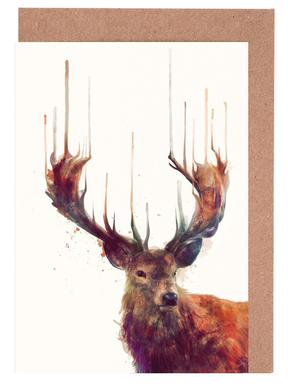 Red Deer Greeting Card Set