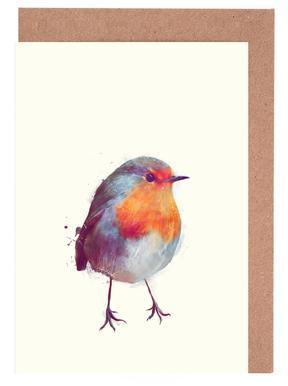 Winter Robin Set de cartes de vœux