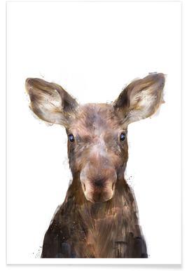 Kleine eland illustratie poster
