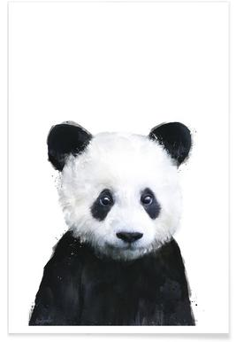 Little Panda Illustration Poster