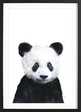 Little Panda affiche sous cadre en bois
