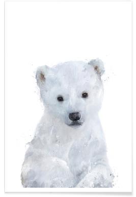 Kleine ijsbeer illustratie Poster