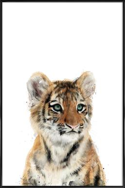 Little Tiger Affiche sous cadre standard