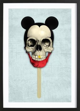 Mick Pop Poster in Wooden Frame
