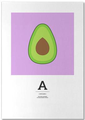 """""""The Food Alphabet"""" - A like Avocado bloc-notes"""