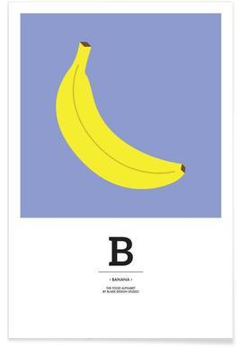 """""""The Food Alphabet"""" - B like Banana Poster"""