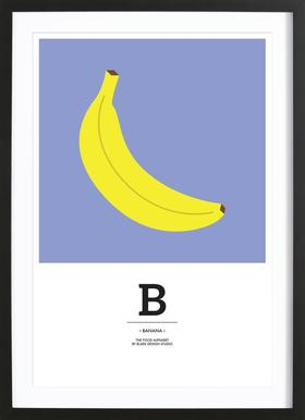 """The Food Alphabet"" - B like Banana Framed Print"