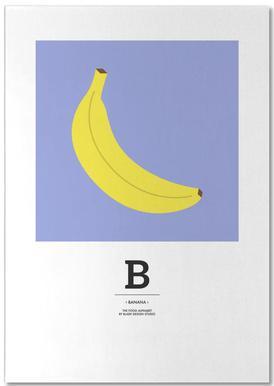 """The Food Alphabet"" - B like Banana notitieblok"