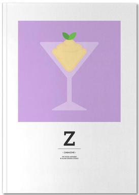 """The Food Alphabet"" - Z like Zabaione Notebook"