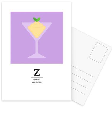 """The Food Alphabet"" - Z like Zabaione Postcard Set"