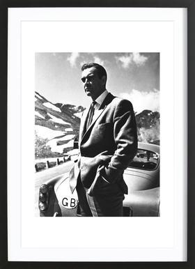 """Sean Connery """"Goldfinger"""" 1964 Affiche sous cadre en bois"""