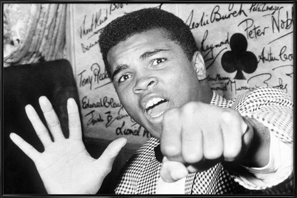 Muhammad Ali - The Greatest Poster im Kunststoffrahmen