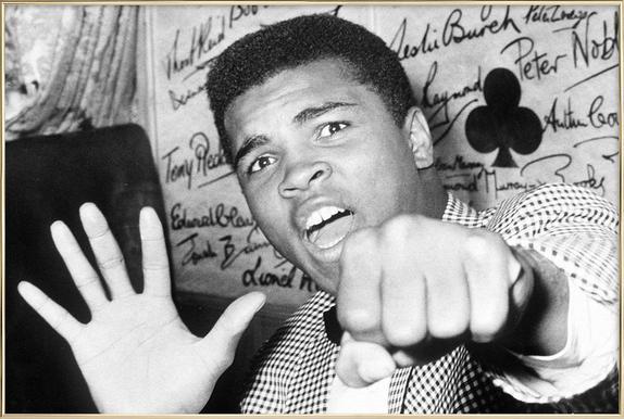 Muhammad Ali - The Greatest -Poster im Alurahmen