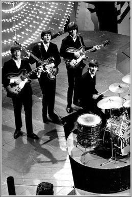 The Beatles, 1966 -Poster im Alurahmen