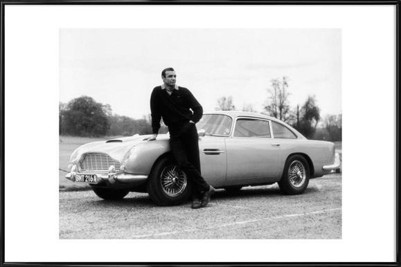 Sean Connery in Goldfinger, 1964 ingelijste poster