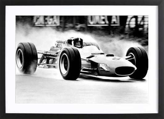 Formula 1 affiche sous cadre en bois