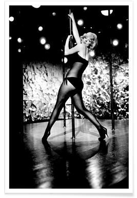 Marilyn Monroe Pole Dancing affiche