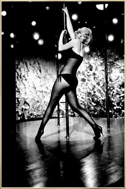 Marilyn Monroe Pole Dancing Poster in Aluminium Frame