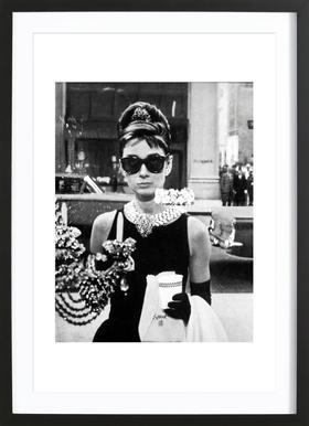 Audrey Hepburn in Breakfast at Tiffany's, 1961 affiche encadrée
