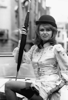 Joanna Lumley as the new 'Avengers' girl Aluminium Print